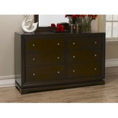 Cheap 420P 6D DR TC 420 Dresser With 6 Pullout Storage Drawers And Solid  Wood Construction