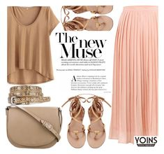 """""""Midi Skirt With YOINS"""" by fattie-zara ❤ liked on Polyvore featuring CÉLINE, yoins, yoinscollection and loveyoins"""