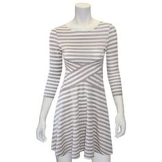 Indication by ECI Lurex Striped Crossover Dress - Women's
