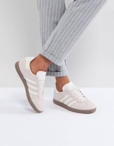 0a8ddcf2203db adidas Originals Gazelle Sneakers In Lilac With Dark Gum Sole