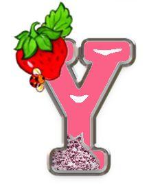 Alfabeto escarchado con fresa y mariquita. | Oh my Alfabetos!