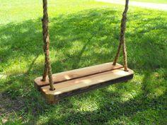 9 Great Wooden Tree Swings --> http://www.hgtvgardens.com/photos/wooden-tree-swings?s=4&soc=pinterest