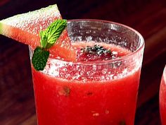Need to make this! Miss aguas frescas from Mexico! Watermelon and Mint (Fresh Fruit-Blended Water) from FoodNetwork.com
