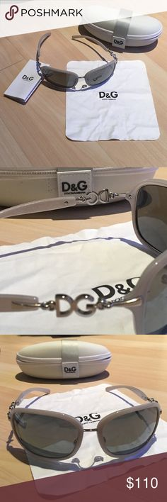 D&G Grey Sunglasses ✨NWT✨ Super cute D&G grey sunnies with D&G silver logos. Will make any outfit look great! Comes with D&G case, tagging pictured, and dust cloth.  NO TRADE or Lowball Offers Offers only considered through Offer button ✅✅ D&G Accessories Sunglasses
