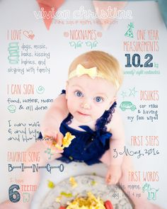 Babys First Birthday Fun Fact Baby by KatieJeanDesignsCo on Etsy