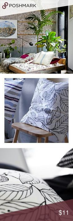 Boho Jungle Pillows 100% Non Smoking, No Pet Home.  Feel free to like, follow, and share. Open to offers. Thanks for the love! :)  IKEA Square Black & White Flower and Leaf bud Pillow Covers. Versatile style for any area of your home. Bedroom bed, living room couch, perfect for a cozy outdoor patio! Like new.   Soft Boho modern jungle kingdom Bohemian 100% non smoking 100% non pet home. Decor velvet design interior mother nature succulent beautiful trendy modern exotic eclectic trademark…