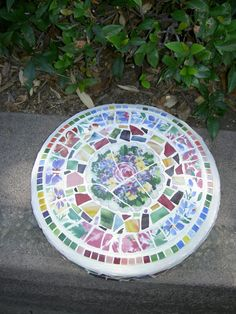 Mosaic Stepping Stone Garden Art by rosepetalcottage on Etsy, $45.00