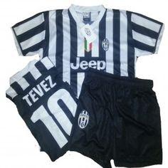 TG. Medium Completino UFFICIALE 2014 bianco nera CARLOS #TEVEZ #Juventus - maglietta #tshirt