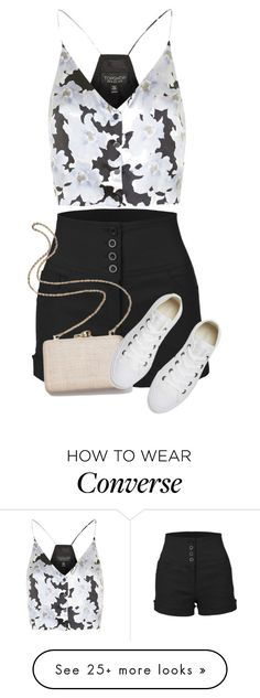 """""""Untitled #2209"""" by m-aigul712 on Polyvore featuring LE3NO, Topshop, Kayu and Converse"""