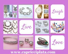 Joyas de plata 925m en www.capricciplata.com #plata #joyas #moda #fashion #capricciplata #pulseras #anillos #pendientes # shopping #tiendaonline