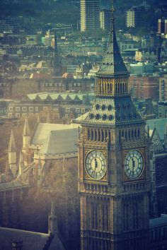 Photograph of Big Ben and Westminster Abbey in the background, London, UK / by rosieburtphotography Beautiful London, Beautiful World, Beautiful Places, Big Ben, London City, London Skyline, London Food, Places Around The World, Around The Worlds