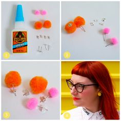 How to create colourful DIY pompom earrings with blogger Wardrobe Conversations
