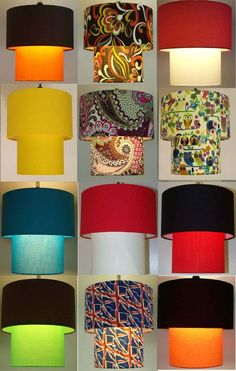 Two Tier Lampshade, Ceiling Light Retro, Butterfly