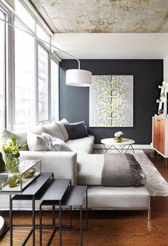 #livingspaces Modern Small Living Room Tv Room Small Small Living Room Sectional & 50 Shades of Grey \u2026 Rooms!   Home   Pinterest   Interior design ...