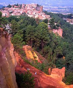 The reds and oranges in Roussillon were magical.
