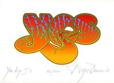 Roger Dean » 'Yes' Anniversary Logo (1) (Limited Edition, Giclee Prints)
