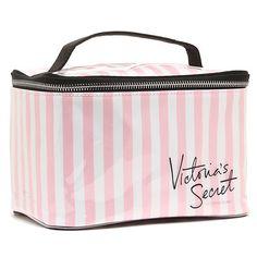 Victoria's Secret Pink Striped Makeup Cosmetic Travel Train Top Carry Case for sale online Pink Accessories, Travel Accessories, Victoria Secret Makeup, Perfume, Mini Purse, Cute Bags, Makeup Cosmetics, Victoria's Secret Pink, Cosmetic Bag