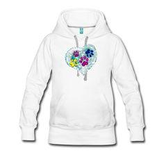 Imprimé trace de chat sur le coeur Sweat Shirt, Hoodies, Sweaters, Fashion, Cat Breeds, Moda, Sweatshirts, Fashion Styles, Parka