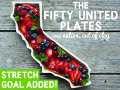 Get a plate shaped like your state. The Fifty United Plates by Ryan and Kaitlyn Lawless