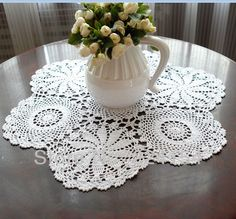 Aliexpress.com : Buy 60CM Round crochet tablecloth wholesale white tablecloths  for wedding decor FREE SHIPPING!!! from Reliable round tablecloth suppliers on Handmade Shop $12.80