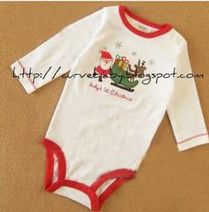 Celebrate baby's 1st Christmas with this cute Santa Romper only for $10 :)   Item Code: BR0017S Item Size: 0-3 months, 3-6 months  Brand: Carter's  Price :$10