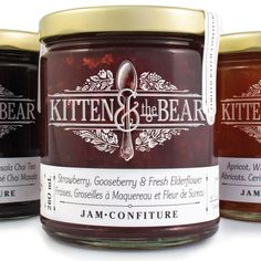 I like the jar and the logo - the bottom labeling not so much, it stands out too much, maybe in a different color? - Kitten And The Bear, Queen St. W., Toronto