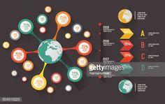 ベクトルアート : Global info graphics design,for text,on dark background,vector