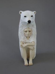 Ceramic Sculptures Examine the Human-Animal Relationship - Cube Breaker