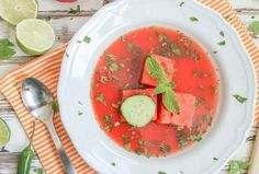 Spicy Watermelon Gazpacho Soup