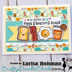 Sunny Studio Stamps: Breakfast Puns Customer Card by Larisa Hohman