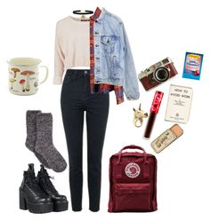 """Its cold outside, and this is my last cute outfit till spring"" by saltymeow on Polyvore featuring Charter Club, UNIF, Lime Crime, Fjällräven, LeiVanKash, Leica, Ryan Michael and Levi's"