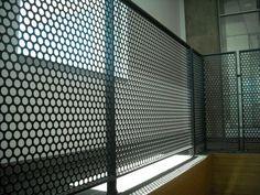 high quality perforated metal supplier in Melbourne Steel Balustrade, Steel Railing, Stair Handrail, Metal Railings, Staircase Railings, Balcony Railing, Patio Roof, Stairways, Railing Design