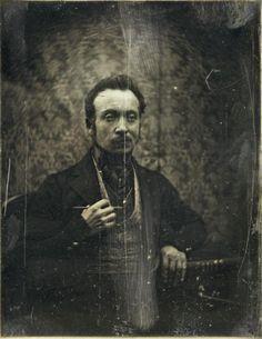Self-portrait of de Prangey / 1840 / daguerreotype