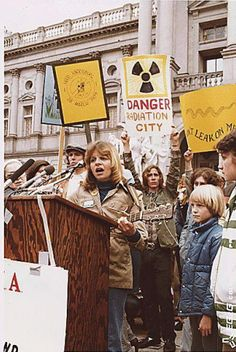 Protests following the Three Mile Island accident in Dauphin County, PA on March 28, 1979 - the partial nuclear meltdown was the worst accident in U.S. commercial nuclear power plant history - new energy portal blog