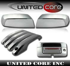 FOR GMC CANYON 2014 15 16 17 2018 CHROME 4 DOORS HANDLES COVERS W//OUT P KEYHOLE