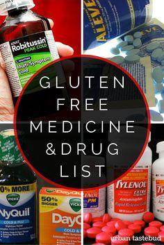 Gluten Free Medicine and Drug List