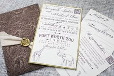 Fun zoo invitation suite by Paper Planet. Styled shoot by Tami Winn Events. Photo by Tracy Autem Photography. Safari Wedding, Our Wedding, Dream Wedding, Wedding Decor, Wedding Stuff, Wedding Ideas, Invitation Paper, Wedding Invitation Sets, Custom Invitations