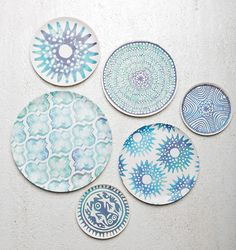 I recently came across these bamboo plates from Amsterdam based online boutique UNC (which stands for Urban Nature Culture) and thought they were too good not to share. Wabi Sabi, Small Plates, Decorative Plates, Interior Bohemio, Tibetan Art, Urban Nature, Funky Design, Plate Art, Deco Table
