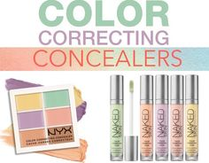 Here's your Color Correcting Cheat Sheet! Find out how to use color correcting concealer for your skin tone and what makeup products work best to correct dark circles, acne, redness and dull skin! Drugstore Eyeshadow Palette, Drugstore Makeup Dupes, Best Color Corrector, Color Correcting Concealer, Color Correction Makeup, Gel Eyeliner Pencil, Daily Beauty Tips, Beauty Secrets, Make Up