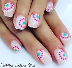 Spring Nail Colors, Spring Nails, Love Nails, Fun Nails, Uñas Fashion, Diamond Wedding Sets, Nail Polish Designs, Simple Nail Designs, Short Nails