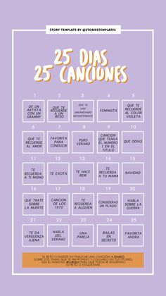 25 días, 25 canciones Instagram Challenge, Funny Questions, Instagram Story Template, Insta Story, Life Motivation, Things To Do, Challenges, Positivity, Journal