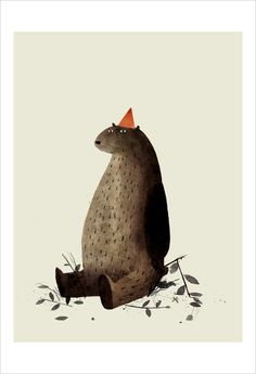 Jon Klassen - Print - I Want My Hat Back - Page 27 (Red Hat) - Nucleus | Art Gallery and Store