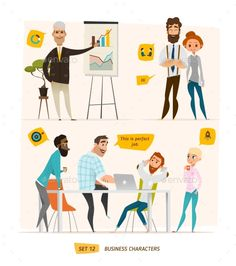Business Characters Scene.  - People Characters
