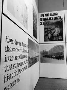 At the BOOM: Changing Seattle exhibition Seattleites interested in shaping Seattle's future began by looking backward. Rapid change is nothing new to our city. Cartography, Ghosts, Seattle, Stuff To Do, Change, Wall, Walls