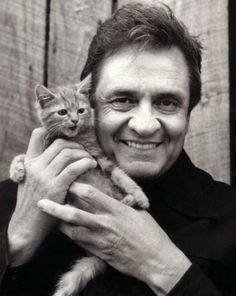 Johnny Cash and kitty