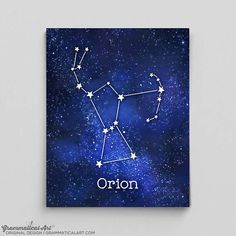 Orion Constellation Art Orions Belt Constellation Print Astrology Print Astrology Art Custom Astrology Gifts for Her Science Gifts for Him – Constellation Tattoo Orions Belt Constellation, Constellation Quilt, Andromeda Constellation, Constellation Tattoos, Orion Tattoo, Orion's Belt Tattoo, Quilled Paper Art, Science Gifts, Galaxy Print