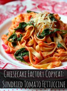 Lighter Sundried Tomato Fettucine and other quick pasta recipes