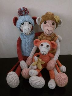 Scimmiette amigurumi