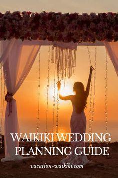 The ultimate guide to Waikiki wedding planning. Honeymoon Vacations, Hawaii Honeymoon, Hawaii Wedding, The Wedding Date, Wedding Blog, Wedding Planner, Dream Wedding, Beach Wedding Locations, Destination Wedding
