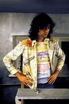 Jimmy Page and his self painted shirt ❤